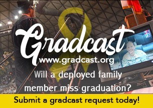 www.gradcast.org Deployed soldiers watching their family members graduate.