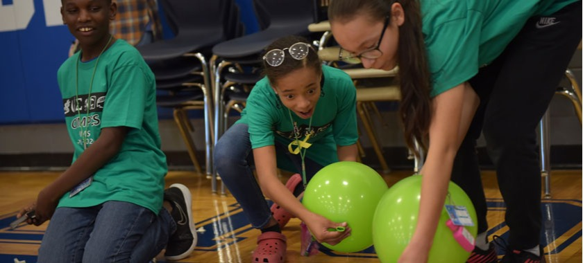 Liberty Hill science athletes test their balloon-powered cars