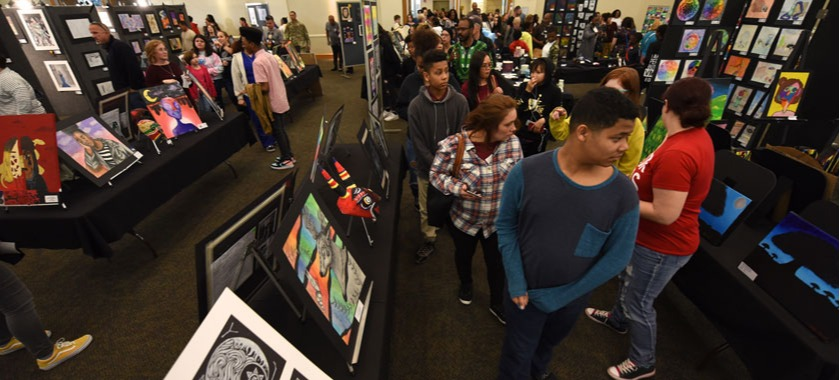 Art students celebrated in visual show