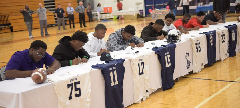 SHS began KISD's round of signing ceremonies Wednesday