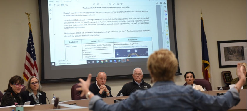 Board members hear plan for continued learning