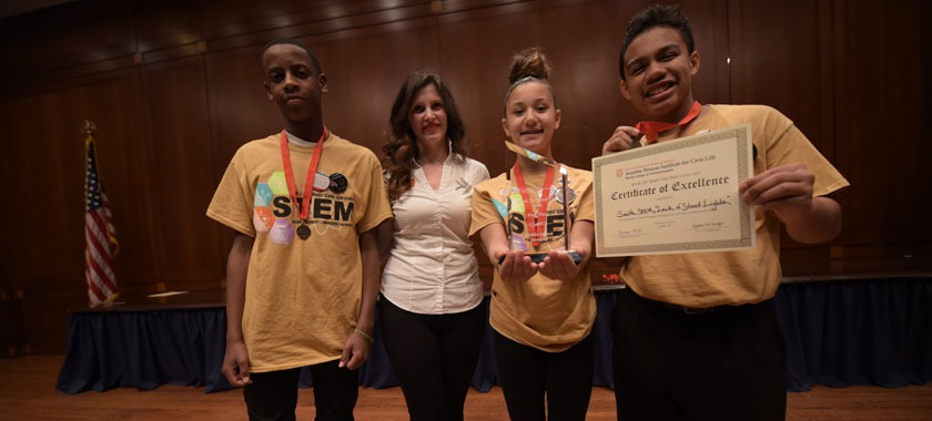 Smith Middle School wins civic engagement contest