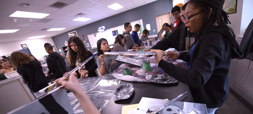 Smith MS students prep art for show