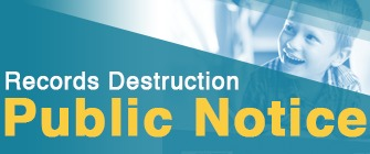 Special Education Records Destruction Public Notice Web Banner