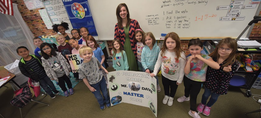 Second-grade teacher honored by student support