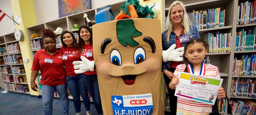 "Second-grader receives ""HEB Buddy Award"""