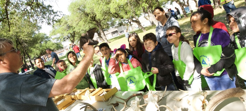 Learning about the environment at Fort Hood Earth Day