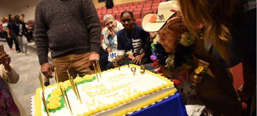 Shoemaker HS celebrates 95th birthday.