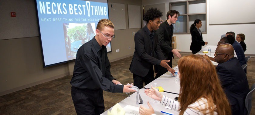 ECHS seniors competed for business grant