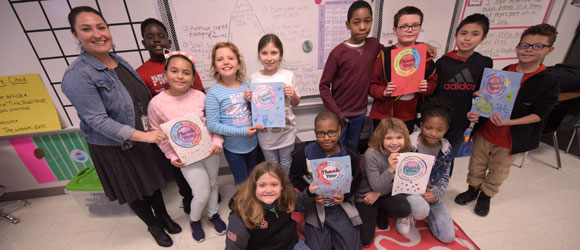 Pershing Park fourth-graders thank emergency responders