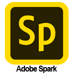 Clickable image with clip art photo of the Adobe Spark logo