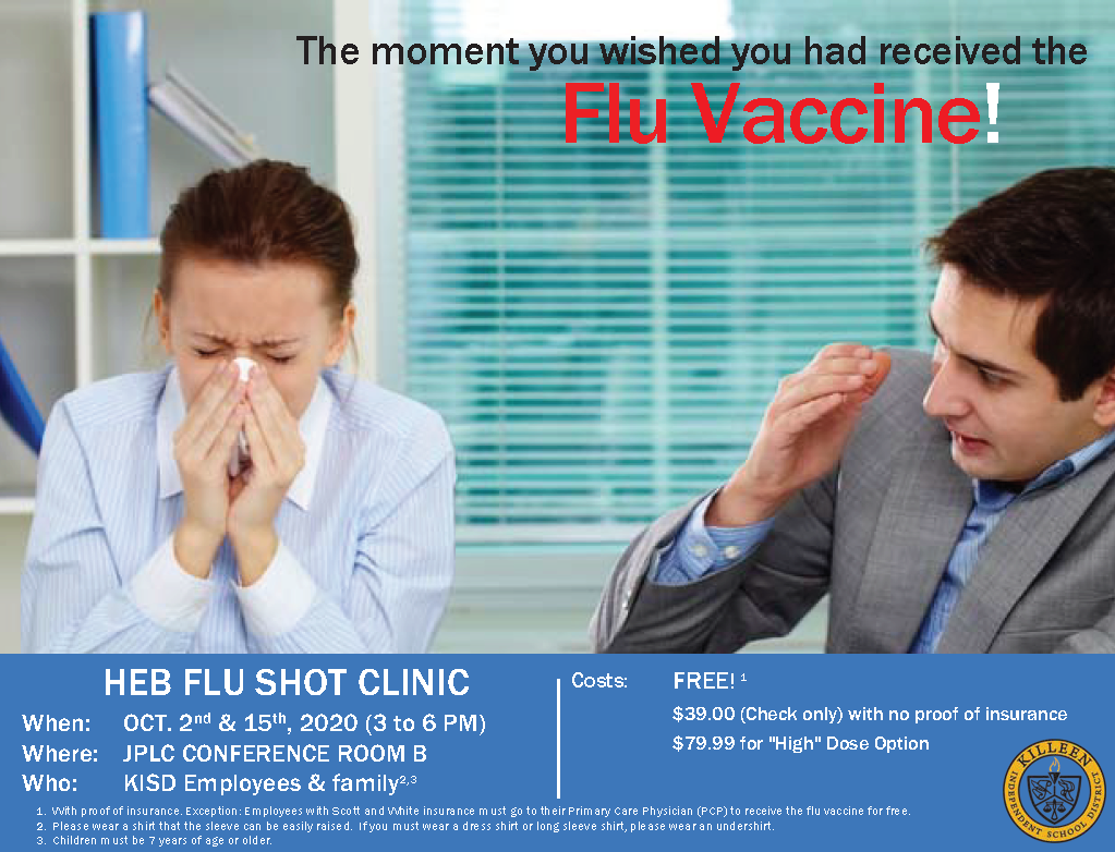 HEB Shots Clinic Flyer, click here to read more.